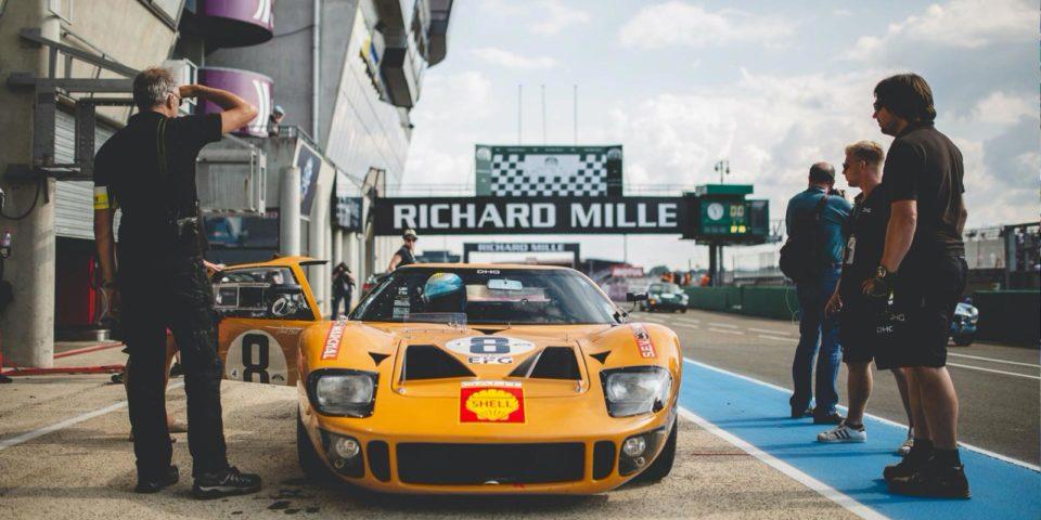 Visuel vehicule ancien le Mans Classic VIP Privilège