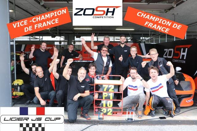 Zosh Compétition / Ligier JS Cup : Champions et vice-champion !