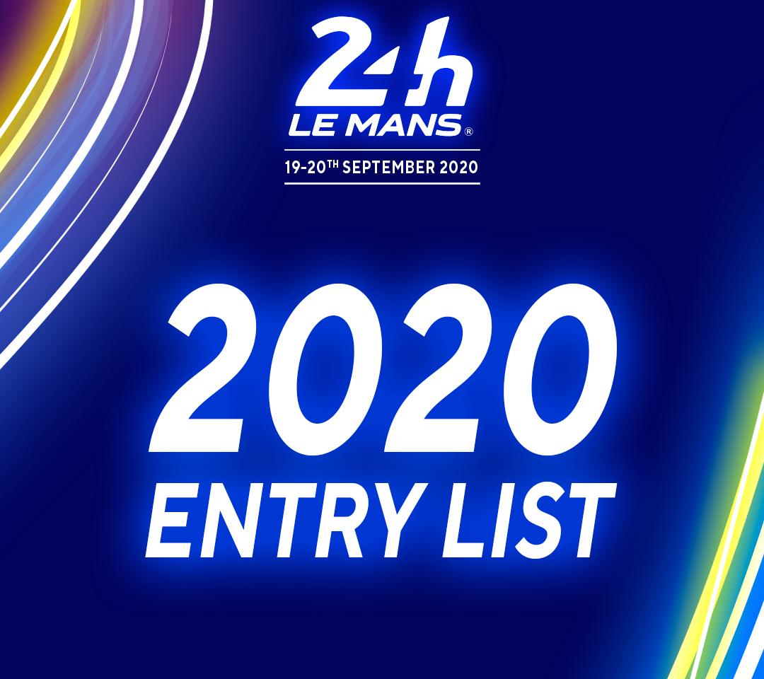 Liste des engagés 24 Heures du Mans 18 et 19 septembre 2020