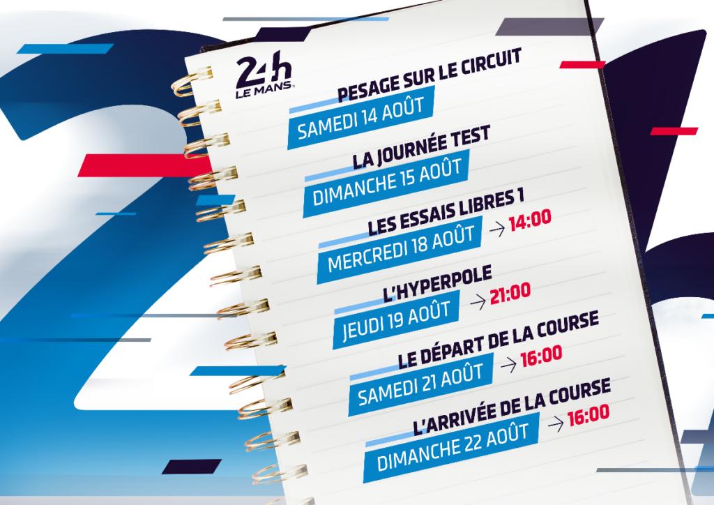 programme des 24h du Mans 2021
