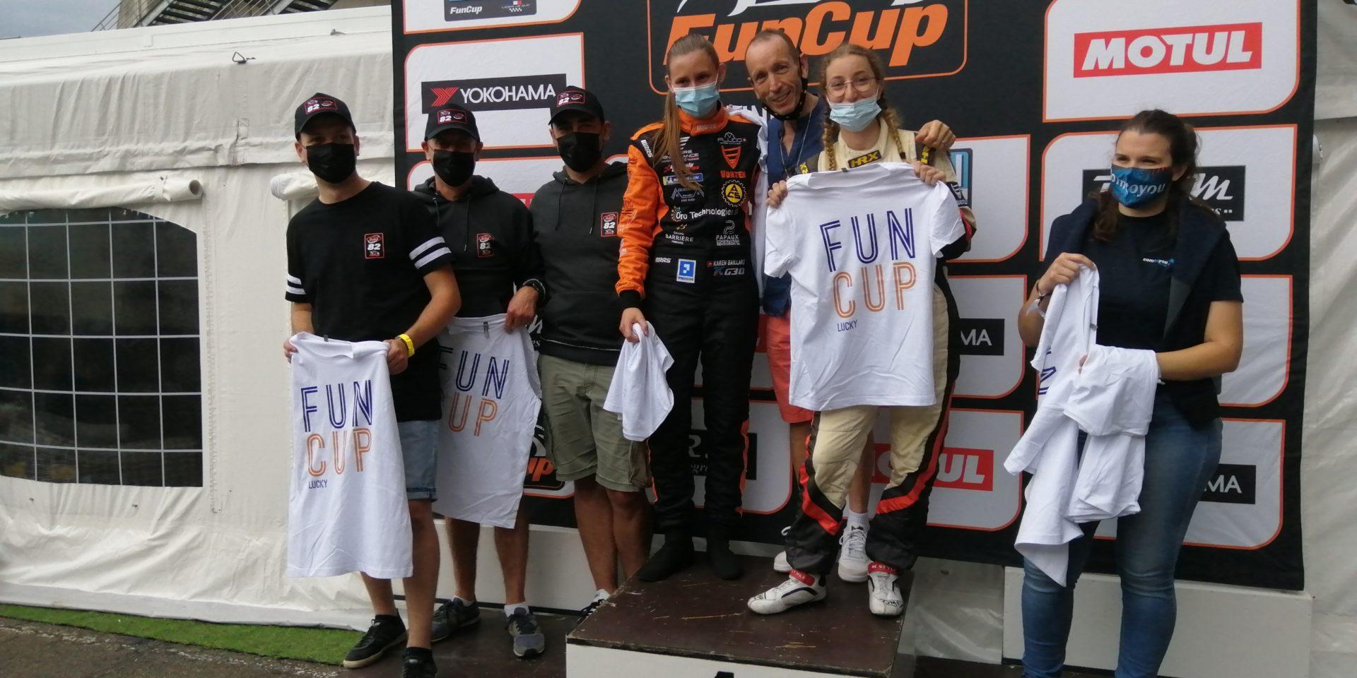 podium fun cup le mans